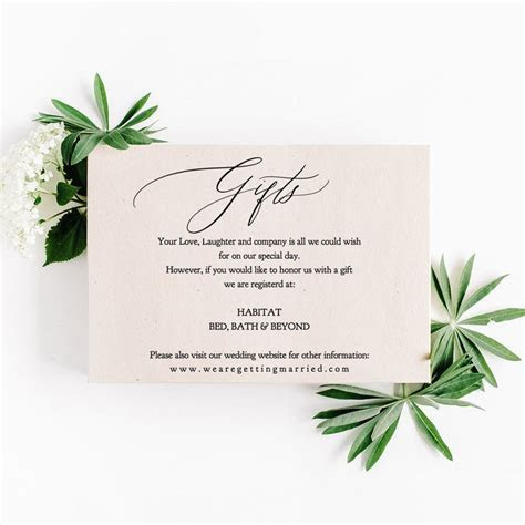 Wedding Gift Registry Wording Ideas: How to ask for gifts