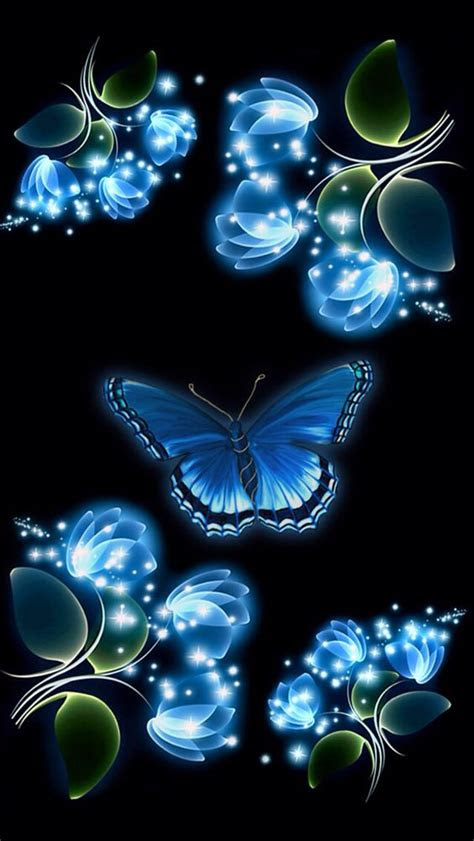 wallpaper backgrounds blue butterfly  iphone