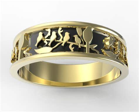 Leaves Wedding Band   Vidar Jewelry   Unique Custom