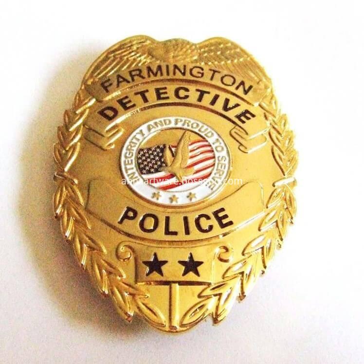 Polis Memuru Için özel Yüksek Kalite Metal Rozet Bossgoocom