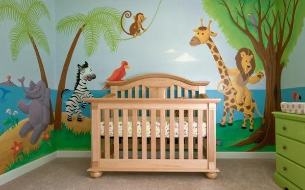 Bilder für kinderzimmer selber malen  Kinderzimmer Baum Malen: Kinderzimmer Wandgestaltung In Braun ...