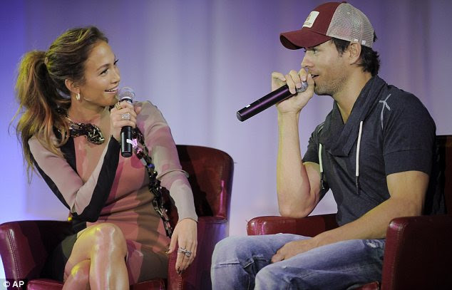 Great chemistry: The duo appeared more than comfortable together as they sat on stage