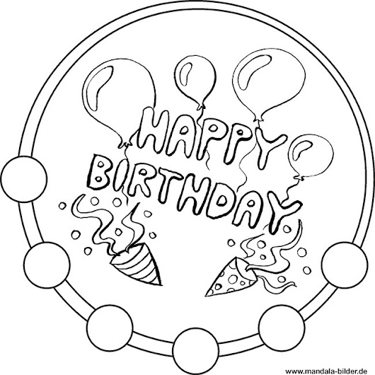 Du Suchst Ein Kreatives Ausmalbild Zum Thema Geburtstag