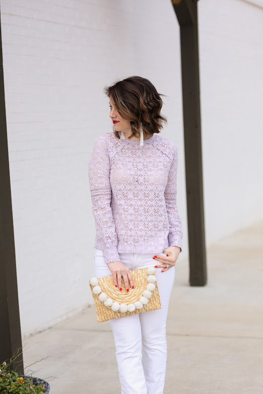 How to Wear Lavender in Spring - Polished Closets