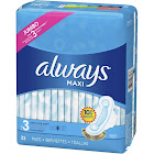 Always Pads, Maxi, with Flexi-Wings, Size 3 (Extra Long Super), Jumbo - 33 pads