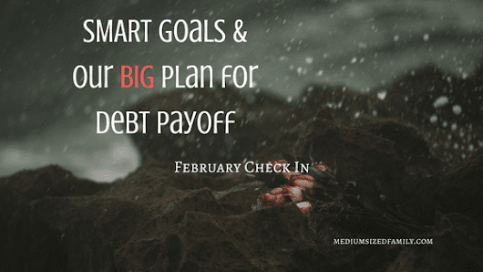 S.M.A.R.T. Goals and Debt Payoff - February Check In - Medium Sized Family