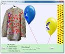 Screenshot of the simulation Μπαλόνια και στατικός ηλεκτρισμός