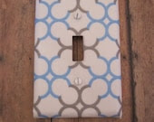 Blue and Gray Circles Switch Plate -Cute for Nursery, Children's Room, Etc. - KumbierKreations