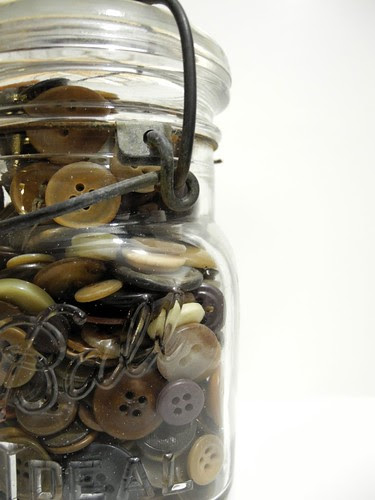 vintage button jar