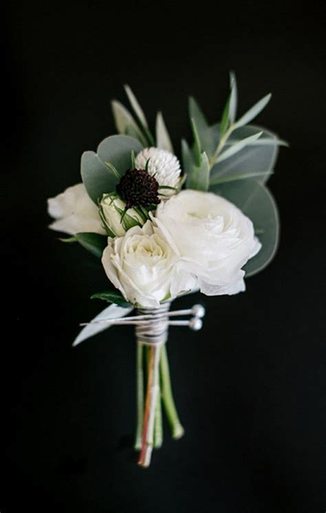 20 Fabulous Wedding Boutonnieres for Groom and Groomsmen