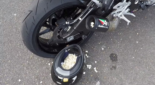 How to Use the BMW S1000R as a Popcorn Machine - Video