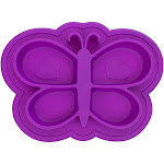 Kushies Siliplate Mess-Free Silicone Plate Violet, Purple