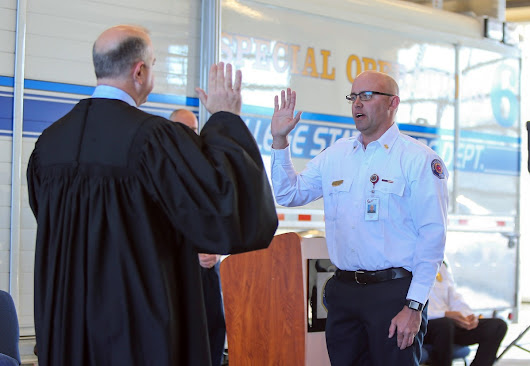 Photos: McMahan sworn in as College Station Fire Chief