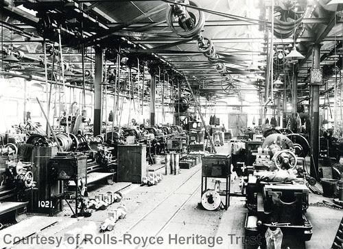 Inside Rolls-Royce Motor Works Derby 1910