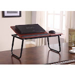 Kings Brand Foldable Adjustable Laptop Stand for Table Sofa & Bed