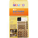 82 Battery Storage Organizer Removable Tester Storage Rack Holder AA AAA 9V !