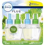 Febreze Plug Odor-Eliminating Air Freshener Scented Oil Refill - Gain Morning & Dew - 2ct