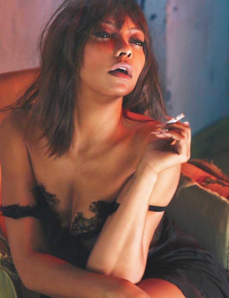 Taraji P. Henson wears lace-trimmed Lanvin dress