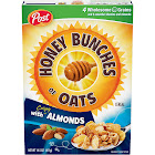 Post Honey Bunches of Oats Cereal, Almonds - 14.5 oz box