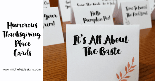 Thanksgiving place cards add a little humor to your big meal.