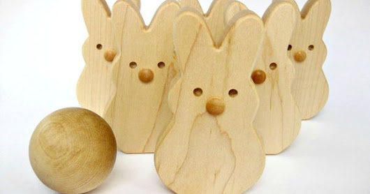 Wooden Toy Bunny Bowling Set | Wood Gifts | Pinterest | Wooden Toys, Bowling and Bunnies