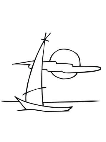 Disegno Di Barca A Vela Da Colorare Disegni Da Colorare E Stampare