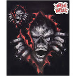"""Lethal Threat Zombie RIP Decal Sticker Car SUV Truck 6"""" x 8"""""""