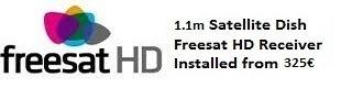 1.1m satellite dish installations for uk tv freesat HD costa blanca spain