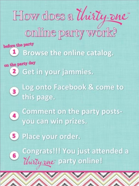 Host an ONLINE FACEBOOK PARTY today!