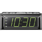 Insignia - Digital AM/FM Dual-Alarm Clock - Black