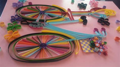 bisiklet temali quilling calismasi