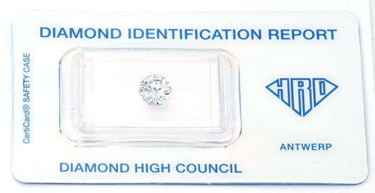 Originalfoto DIAMANT HRD 1,17ct BRILLANT TOP-WESSELTON-G VS1 DIAMOND