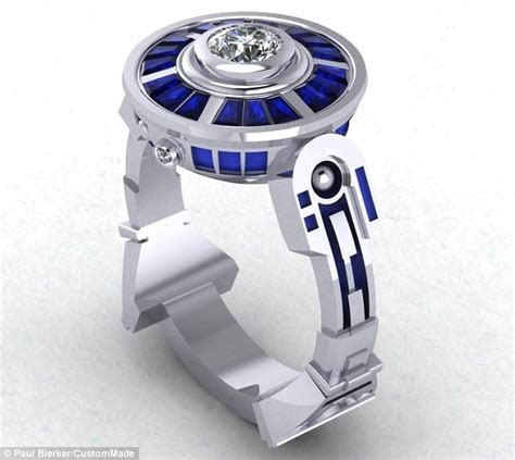 From R2 D2 inspired engagement rings to DNA shaped wedding