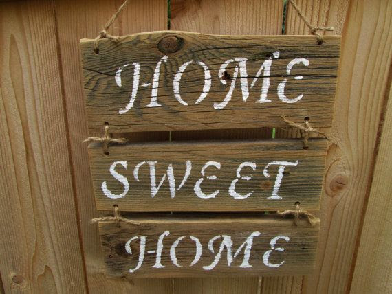 Reclaimed home Sign, Rustic Home rustic  Sign, Rustic Wood sign   Home Sign, Wood Sweet H