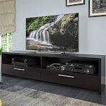 Fernbrook TV Stand in Black Faux Wood Grain - TFB-307-B