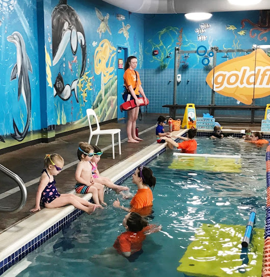 My Sons' Swim Lessons + Why We Chose Goldfish Swim School - Oh Lovely Day