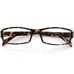 Modern Rectangular Basic Frame Clear Lens Fashion Small Frame Glasses, Tortoise