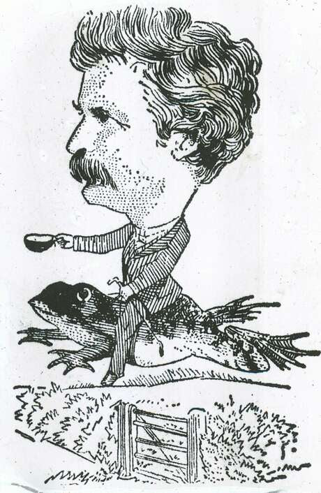 Insight02_KOMP.jpg This illustration of Mark Twain's celebrated jumping frog of Calavaras County appeared in the N.Y. Herald Tribune  portals1010_twain  /San Francisco Chronicle Photo: Xx, San Francisco Chronicle