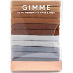 Gimme Clips Infinity Hair Bands Neutral - 12ct