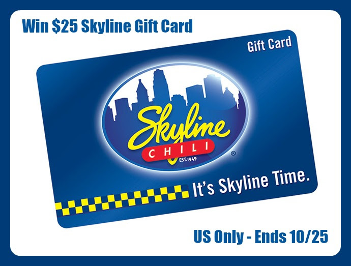Enter the $25 Skyline Gift Card Giveaway. Ends 10/25