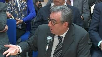 Diego Torres, responent les preguntes de Pedro Horrach en una imatge d'arxiu