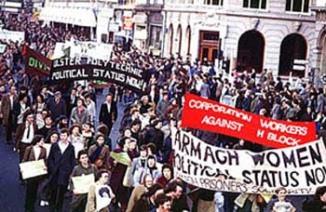 Manifestación en Dublin en 1981 en apoyo a los presos republicanos
