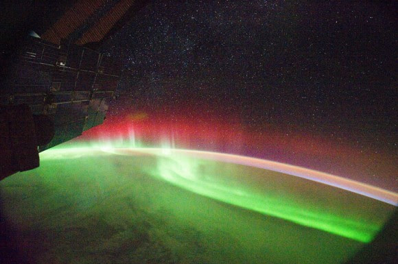 An aurora seen from the International Space Station on September 26, 2011. Credit: NASA.