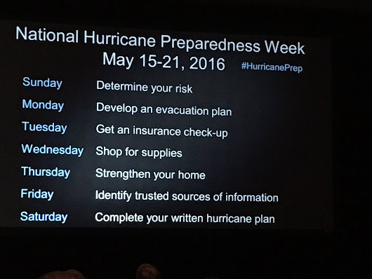 "Natl Hurricane Ctr on Twitter: "".@NHCDirector - New daily themes for National Hurricane Preparedness Week- May 15-21 #HurricanePrep #GHC2016 """
