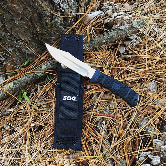 SOG Seal Pup Elite E37-N fixed blade knife. Has a 4.85 inch satin blad - SOG Knives blog
