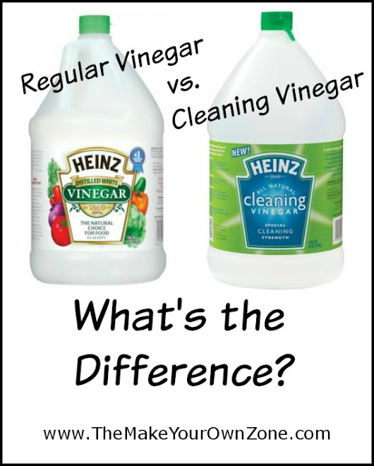 Regular Vinegar vs. Cleaning Vinegar