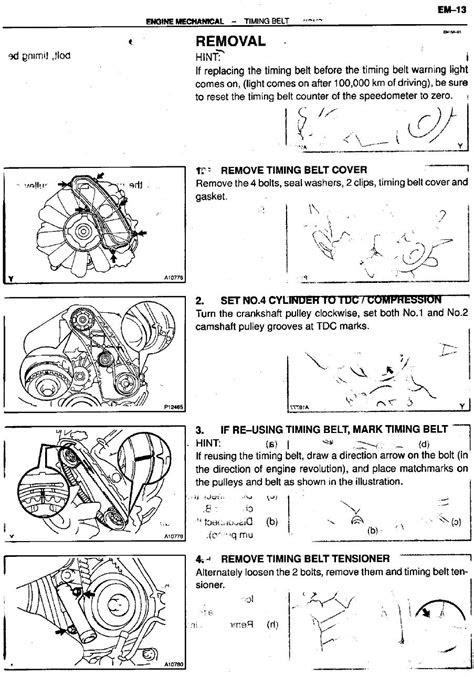 Service Manual for Toyota 1kz-te Turbo Diesel Engine