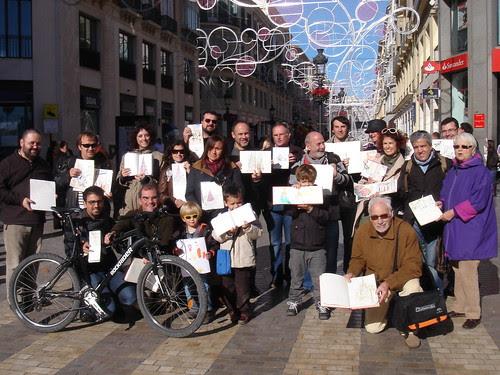 Málaga, Christmas sketchcrawl, team