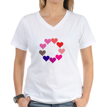 Circle of Rainbow Hearts T-Shirt