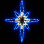"28"" LED Blue and Cool White Bethlehem Star with Star Center"